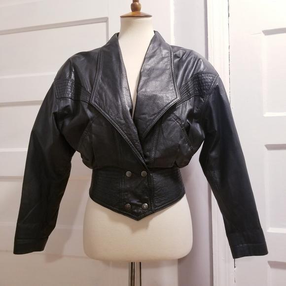 CHIA Jackets & Blazers - Vintage 80s Chia Leather Jacket, Size S